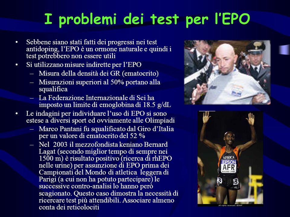 I problemi dei test per l'EPO