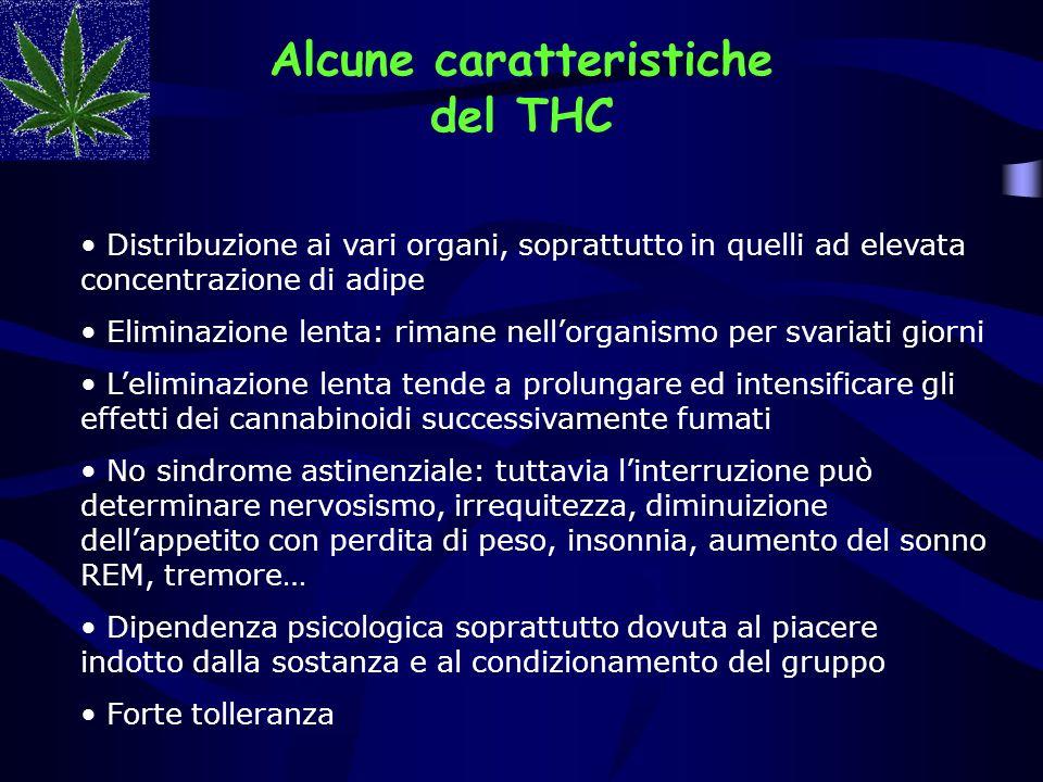 Alcune caratteristiche del THC