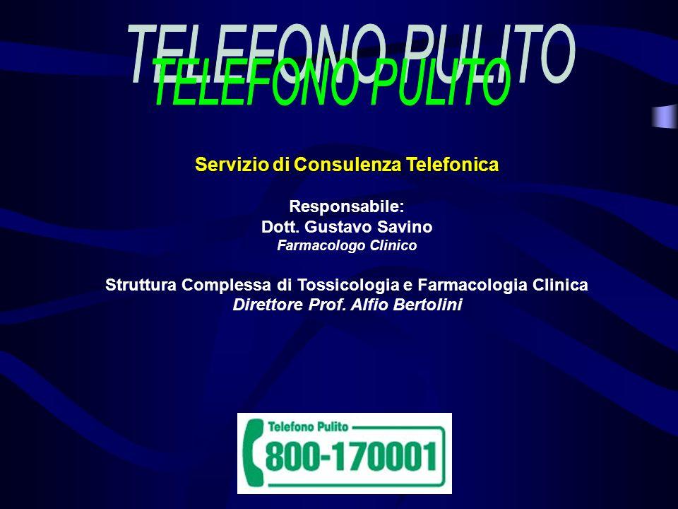 TELEFONO PULITO Servizio di Consulenza Telefonica Responsabile: