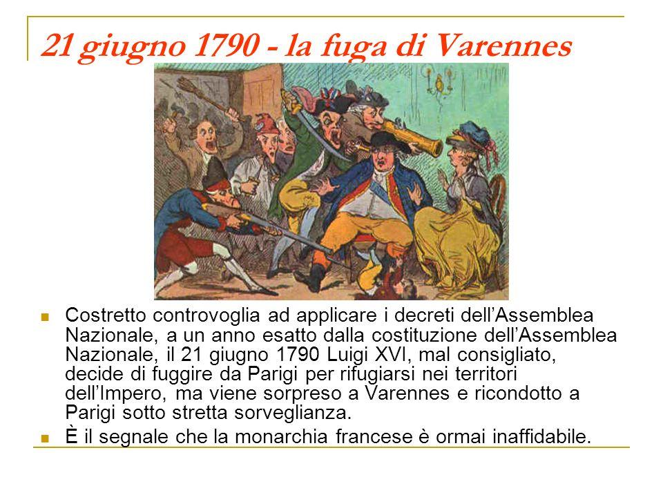 21 giugno 1790 - la fuga di Varennes