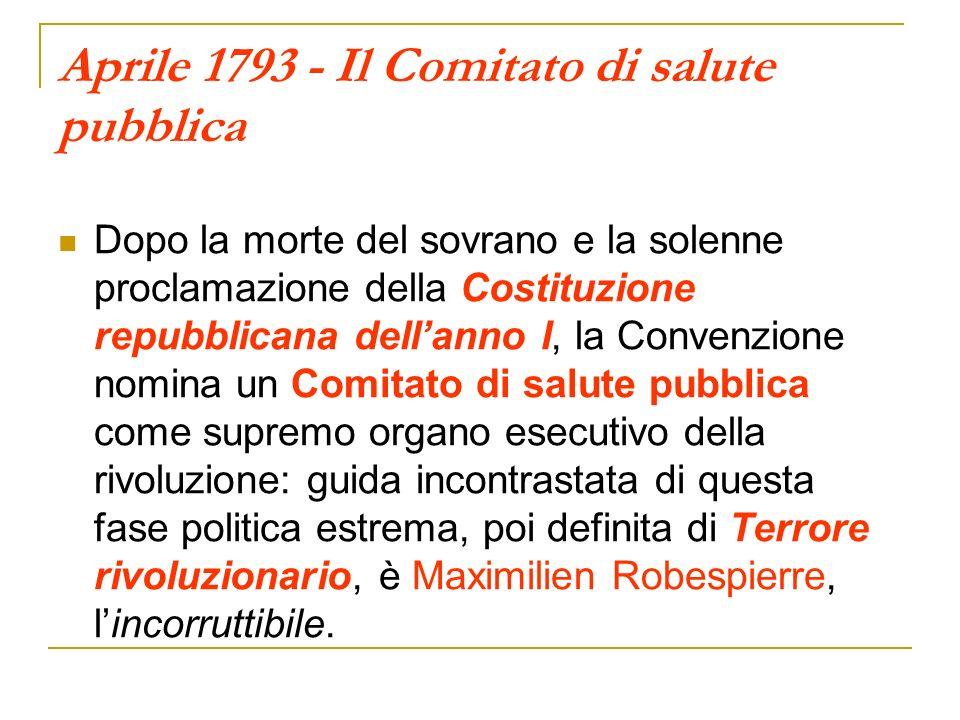 Aprile 1793 - Il Comitato di salute pubblica