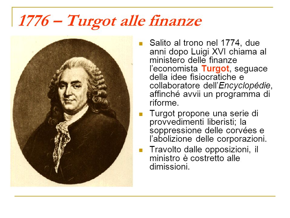 1776 – Turgot alle finanze