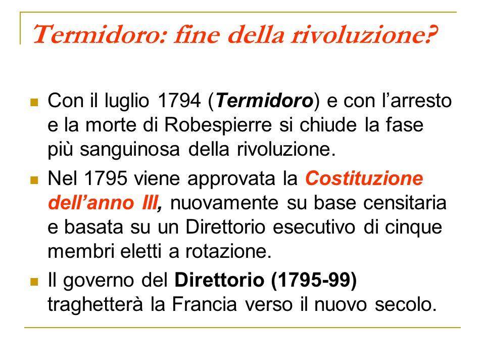 Termidoro: fine della rivoluzione