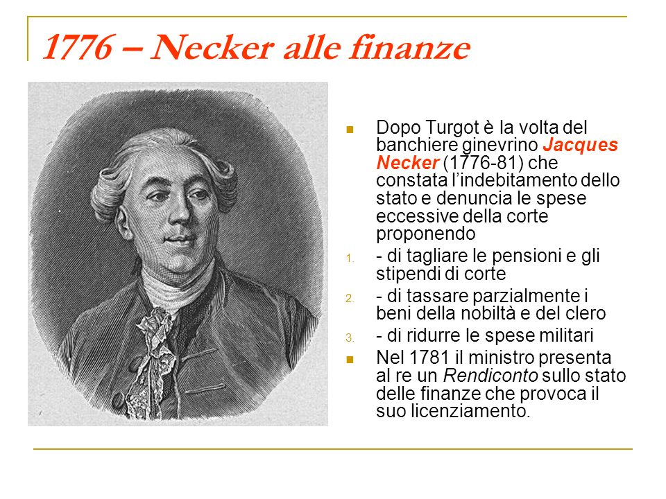 1776 – Necker alle finanze