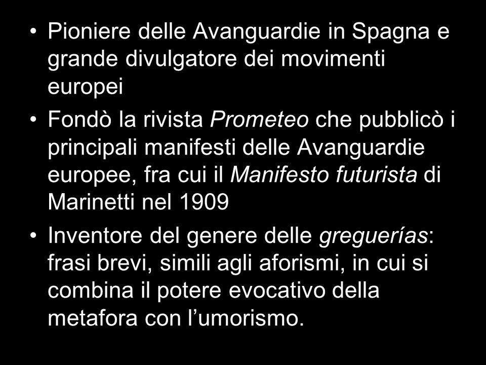 Pioniere delle Avanguardie in Spagna e grande divulgatore dei movimenti europei
