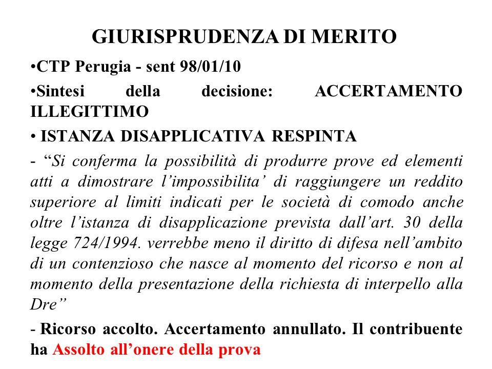 GIURISPRUDENZA DI MERITO