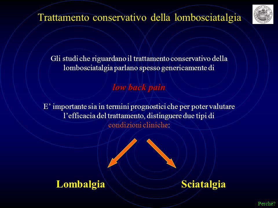Trattamento conservativo della lombosciatalgia