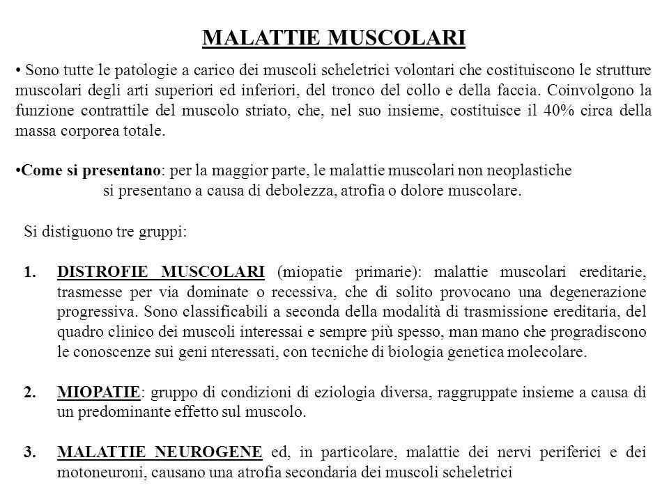MALATTIE MUSCOLARI