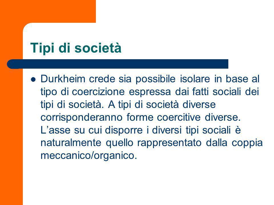 Tipi di società