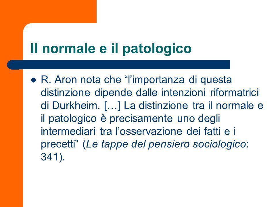 Il normale e il patologico