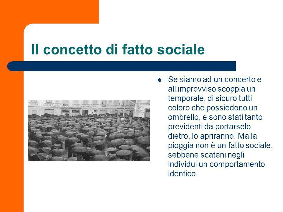 Il concetto di fatto sociale
