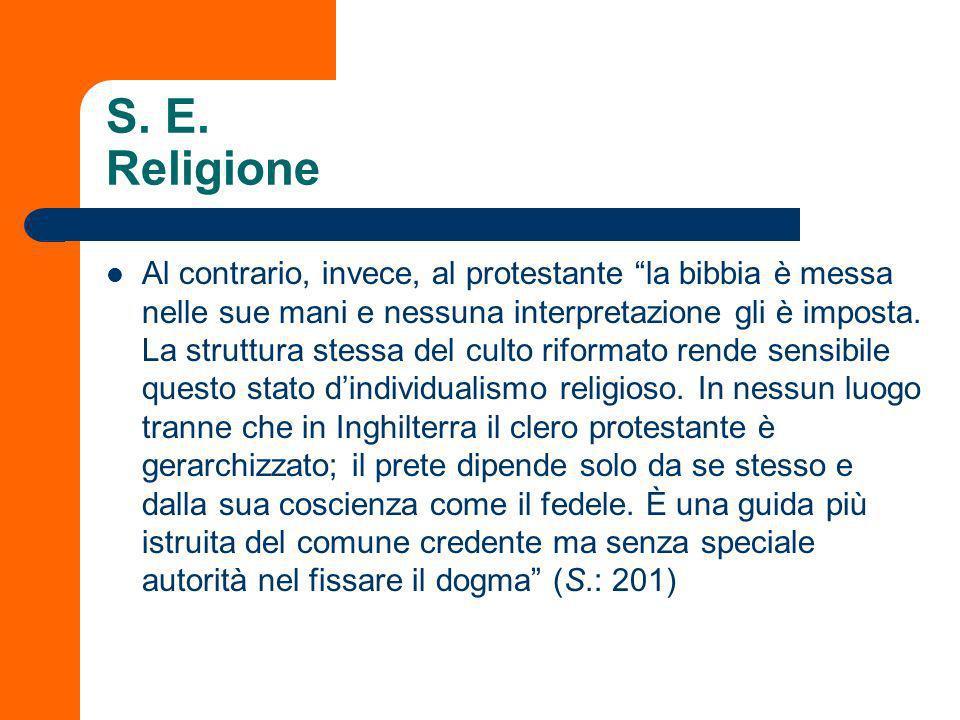 S. E. Religione