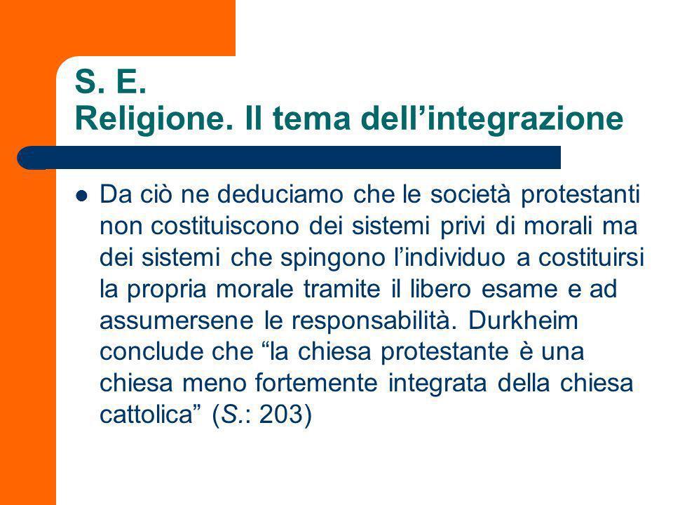S. E. Religione. Il tema dell'integrazione