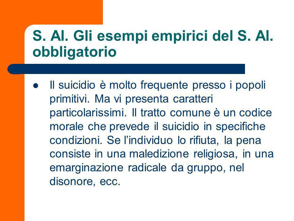 S. Al. Gli esempi empirici del S. Al. obbligatorio