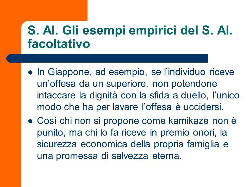 S. Al. Gli esempi empirici del S. Al. facoltativo