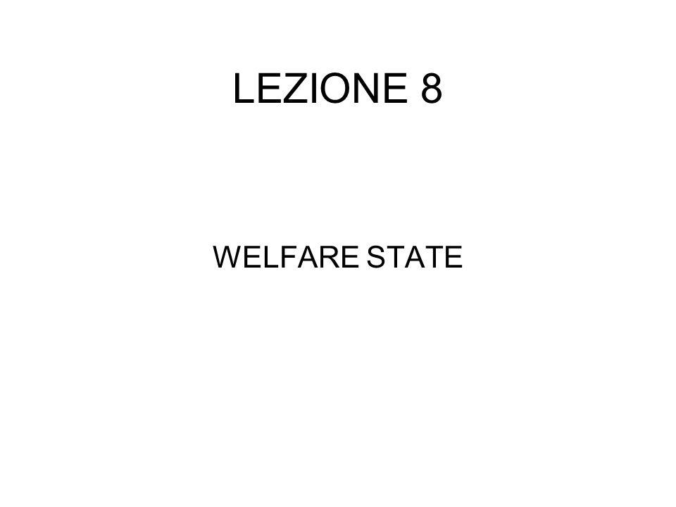 LEZIONE 8 WELFARE STATE