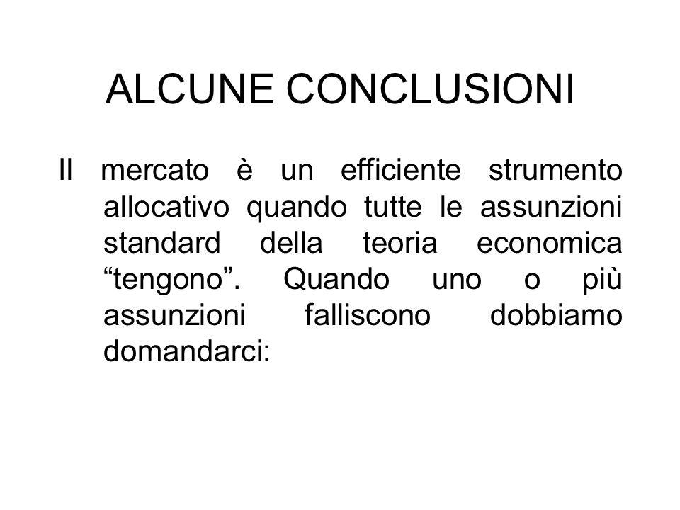 ALCUNE CONCLUSIONI