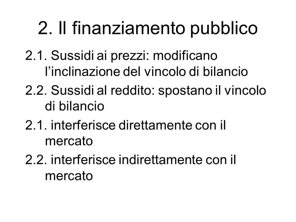 2. Il finanziamento pubblico