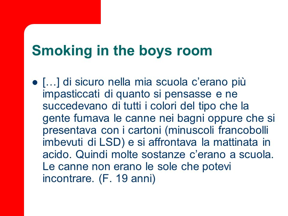 Smoking in the boys room