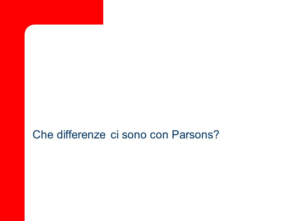 Che differenze ci sono con Parsons