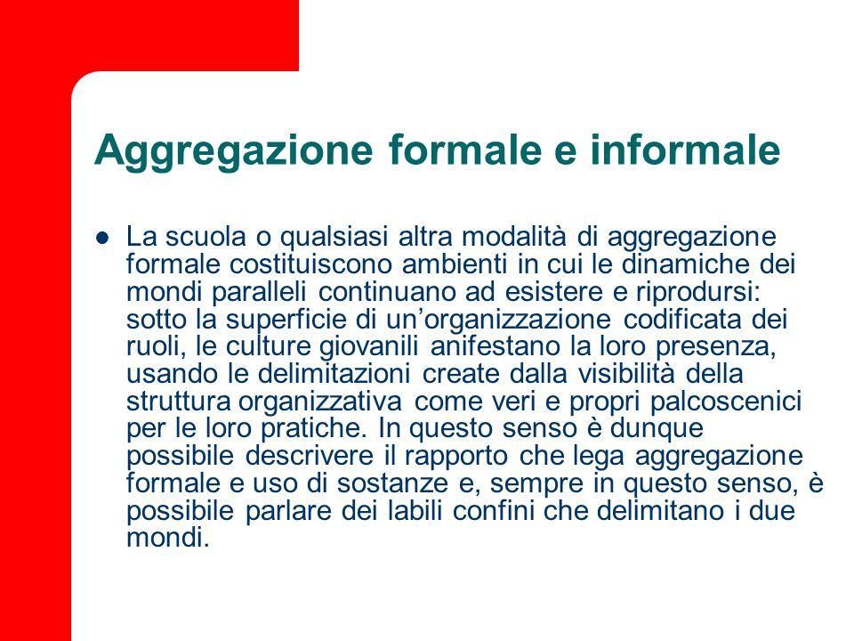 Aggregazione formale e informale