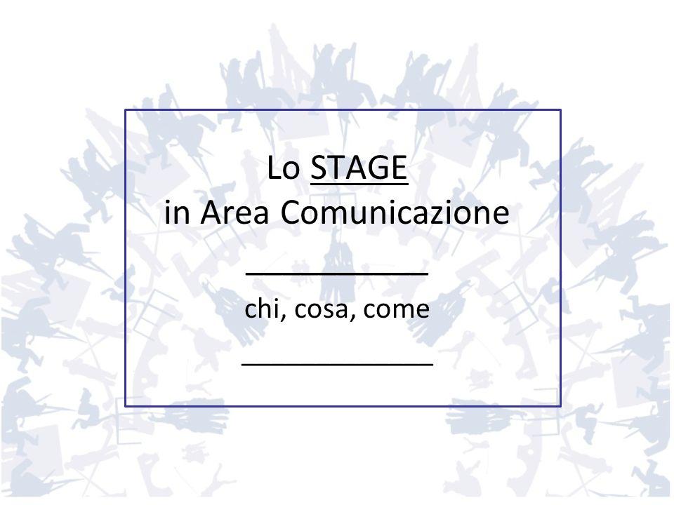 Lo STAGE in Area Comunicazione __________