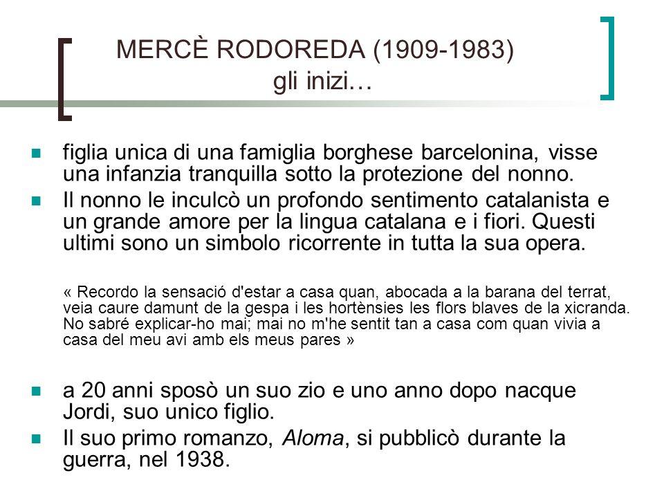 MERCÈ RODOREDA (1909-1983) gli inizi…