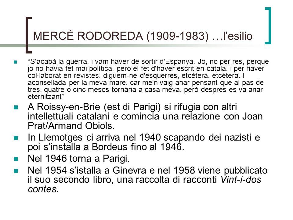 MERCÈ RODOREDA (1909-1983) …l'esilio