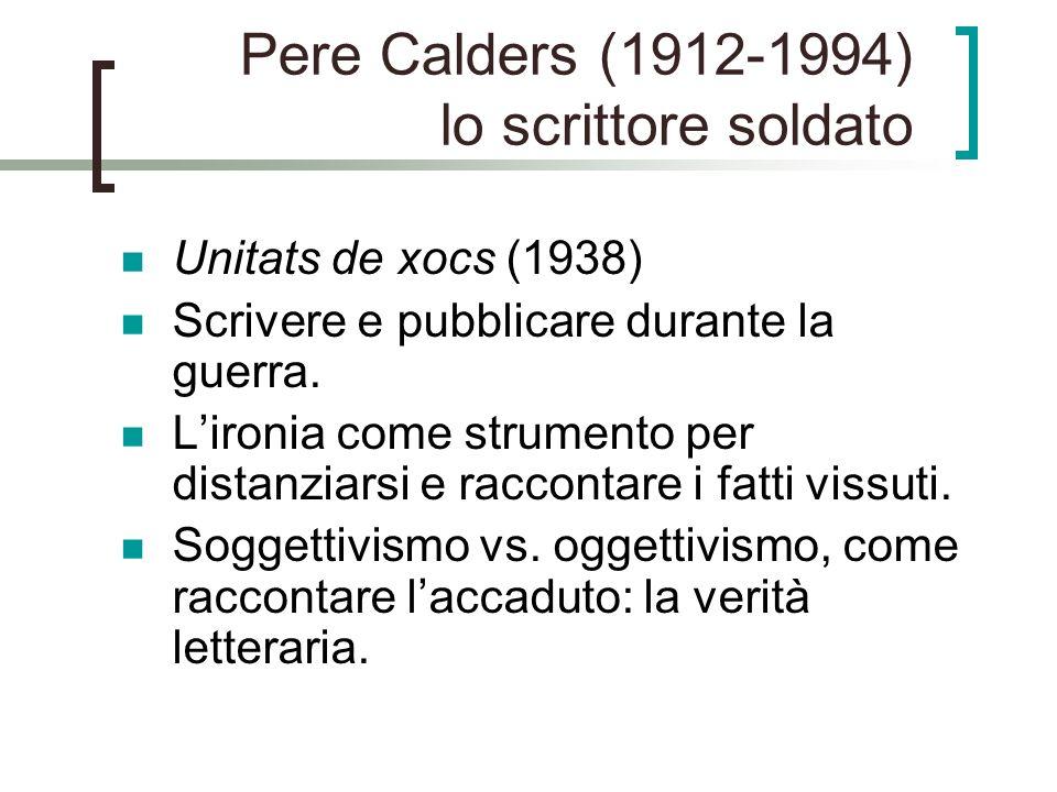 Pere Calders (1912-1994) lo scrittore soldato