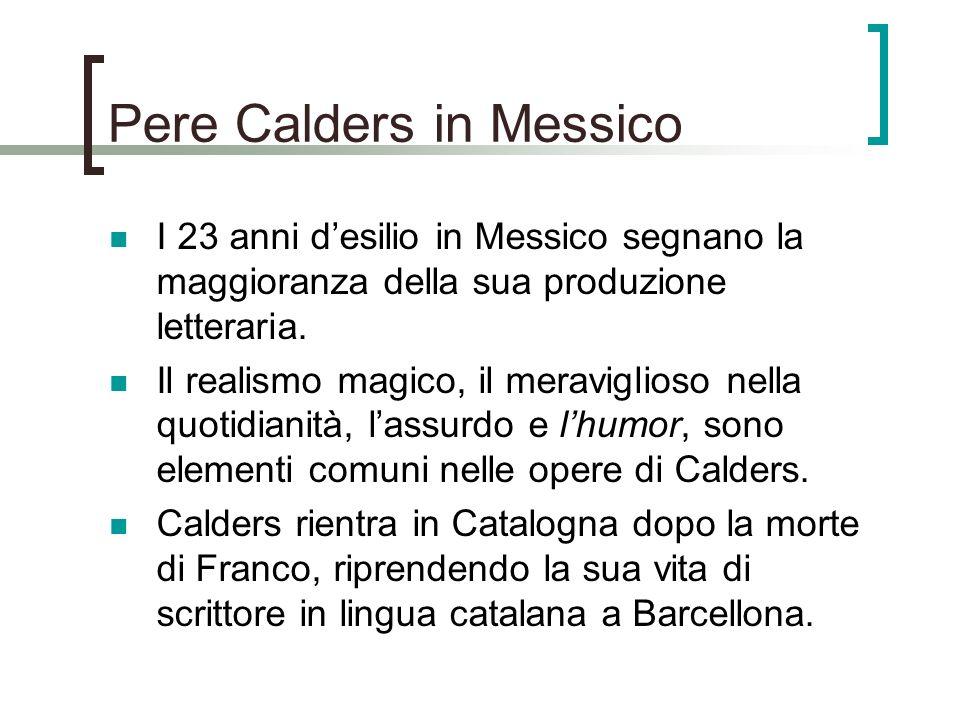 Pere Calders in Messico