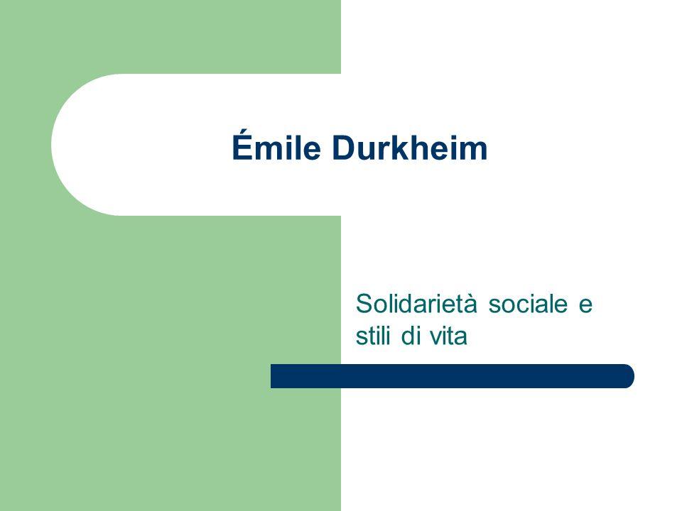 Solidarietà sociale e stili di vita