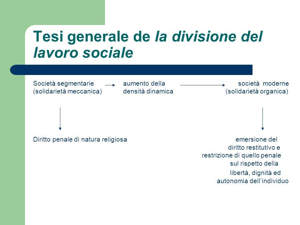 Tesi generale de la divisione del lavoro sociale