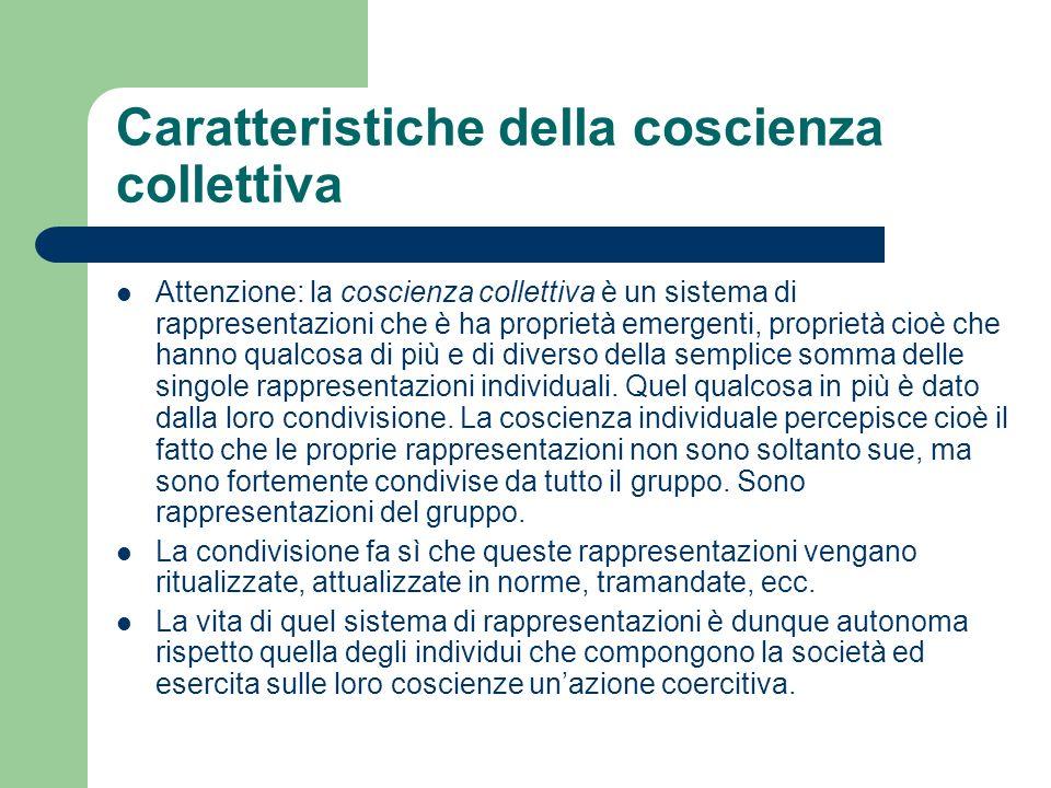 Caratteristiche della coscienza collettiva
