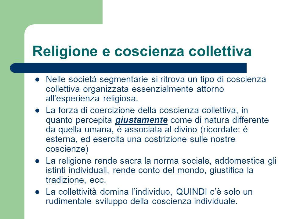 Religione e coscienza collettiva