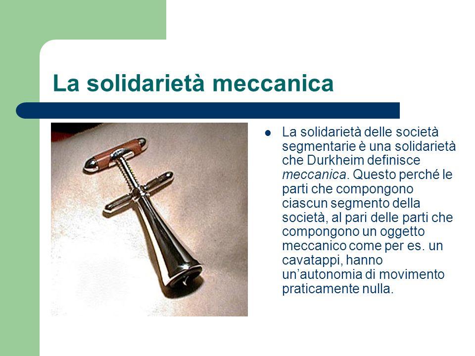 La solidarietà meccanica