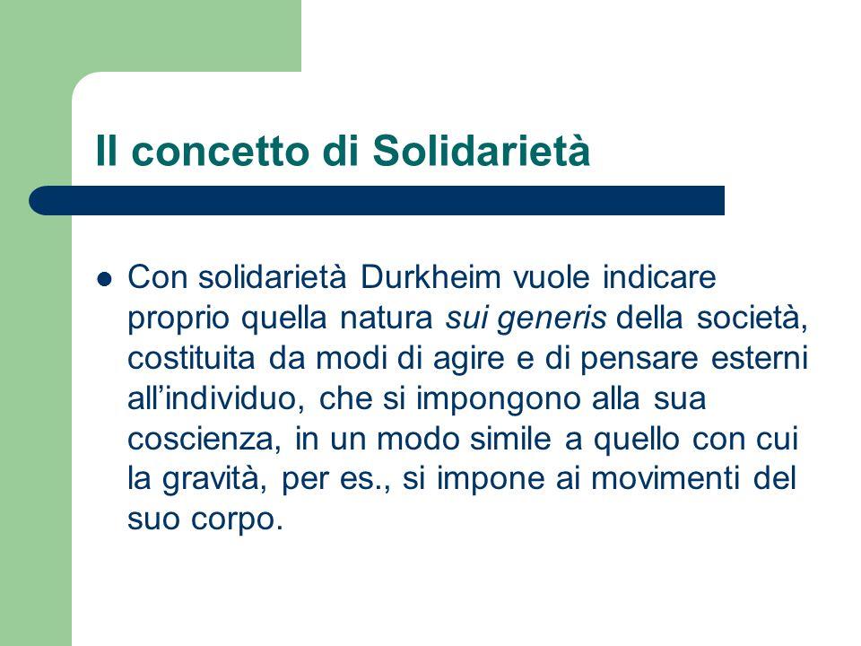 Il concetto di Solidarietà