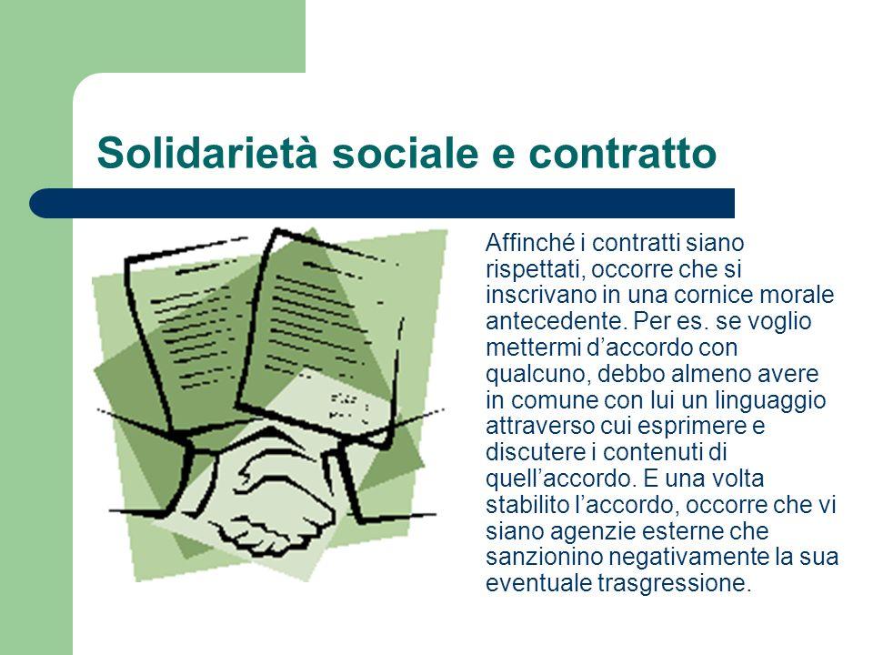 Solidarietà sociale e contratto