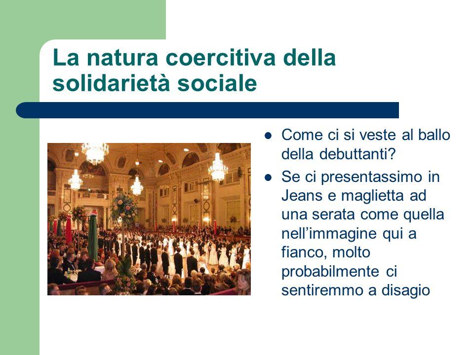 La natura coercitiva della solidarietà sociale