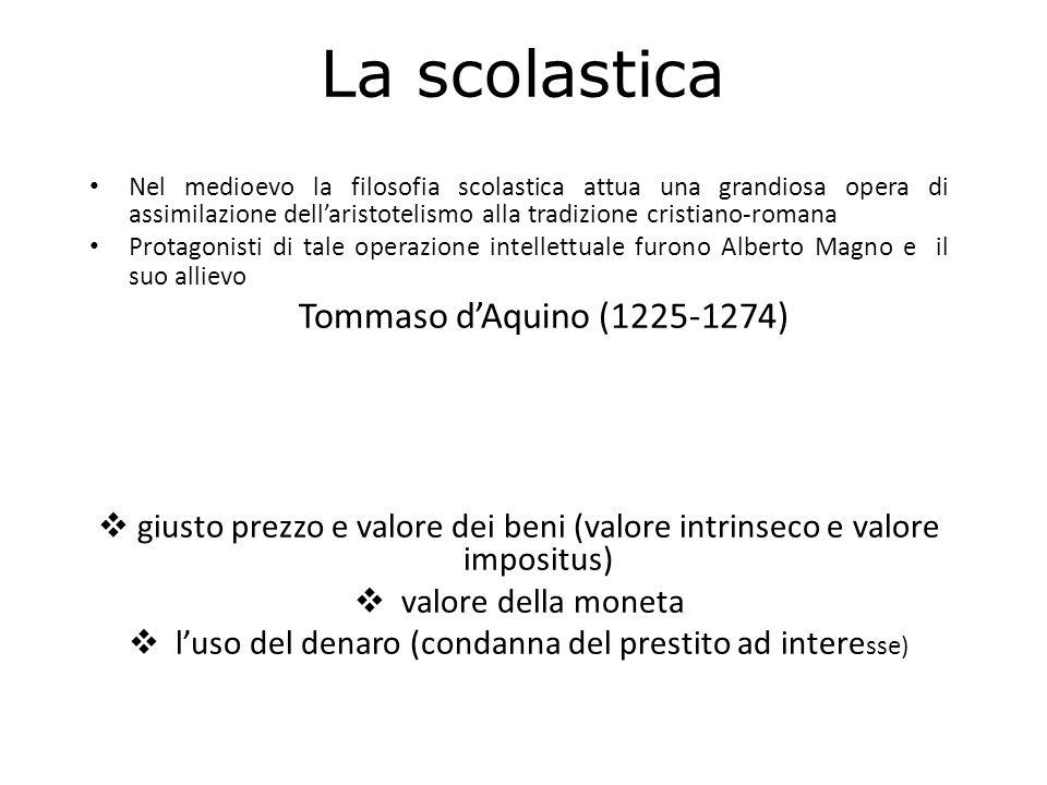 La scolastica Tommaso d'Aquino (1225-1274)