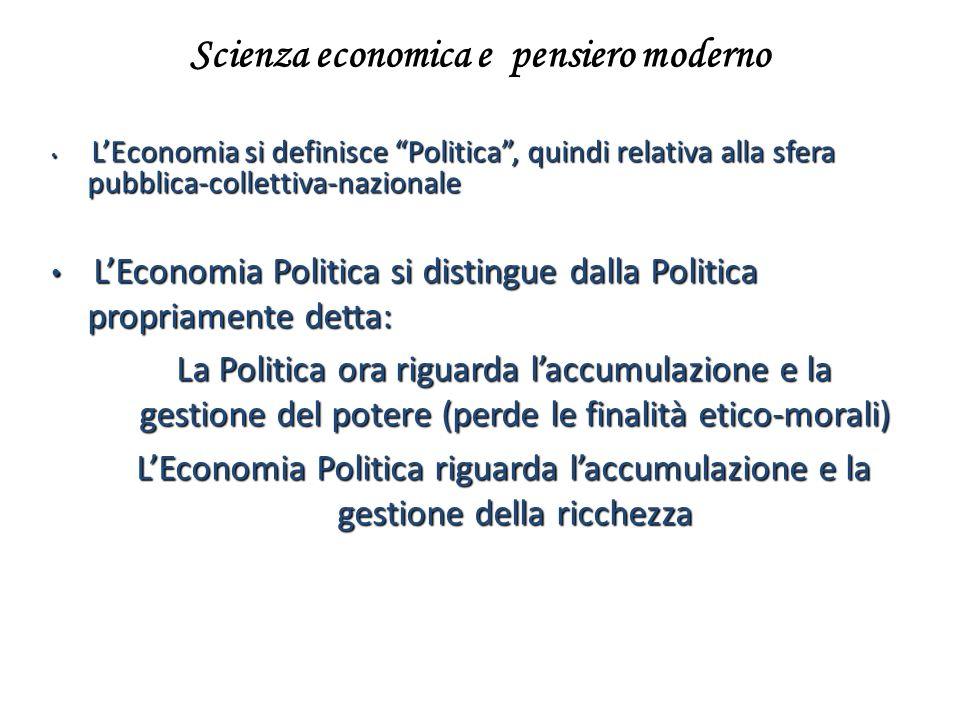 Scienza economica e pensiero moderno