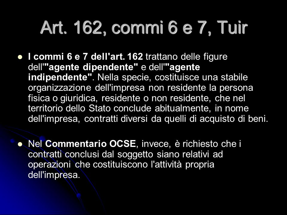 Art. 162, commi 6 e 7, Tuir
