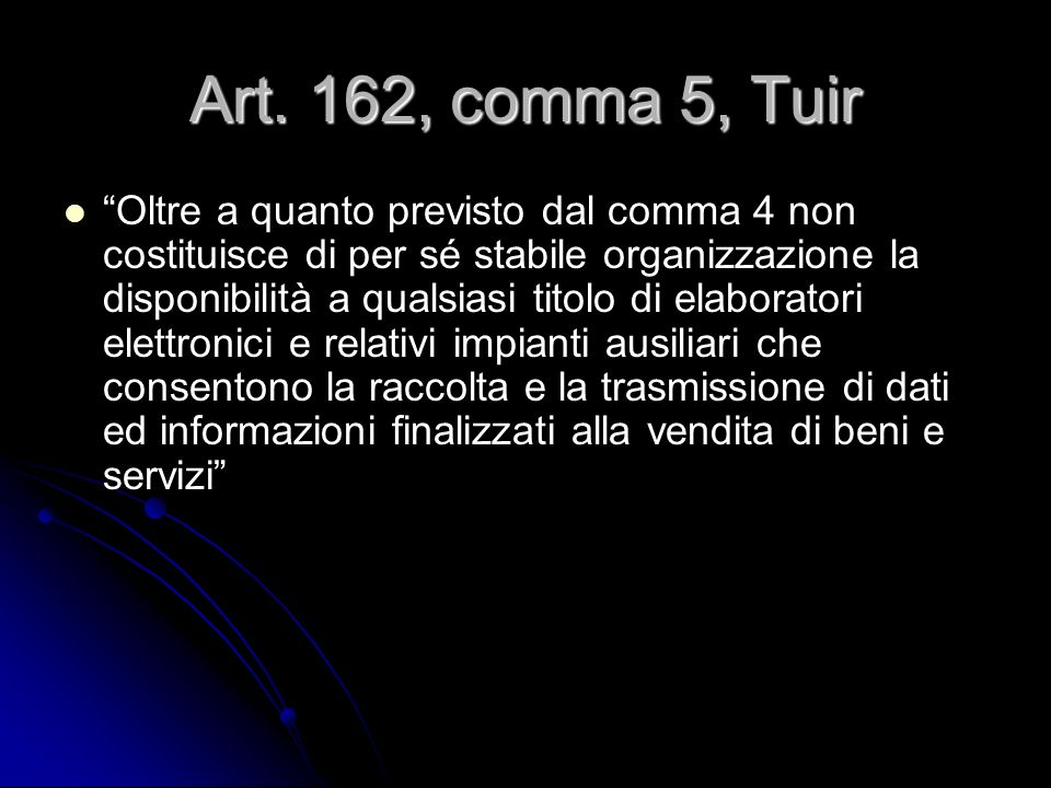 Art. 162, comma 5, Tuir