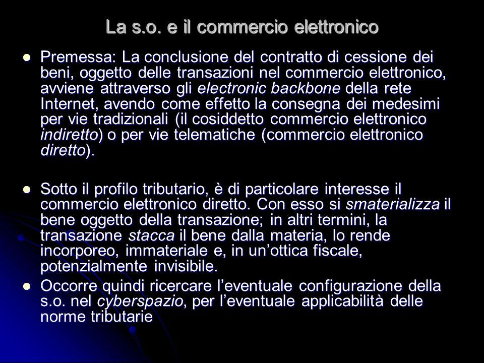 La s.o. e il commercio elettronico