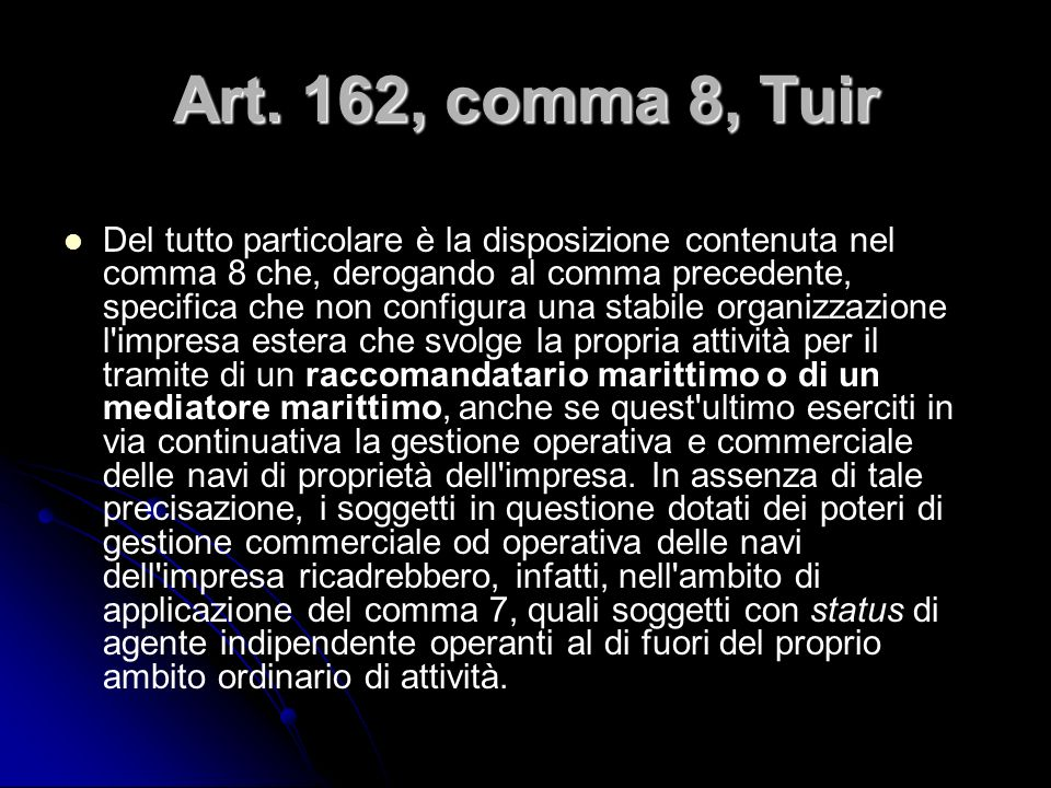 Art. 162, comma 8, Tuir