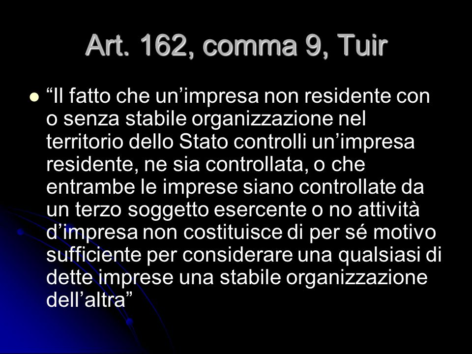 Art. 162, comma 9, Tuir