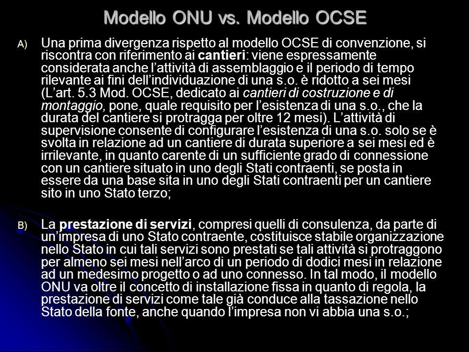 Modello ONU vs. Modello OCSE