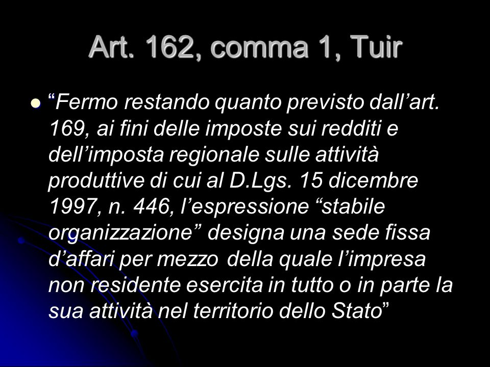 Art. 162, comma 1, Tuir