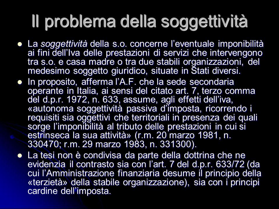 Il problema della soggettività