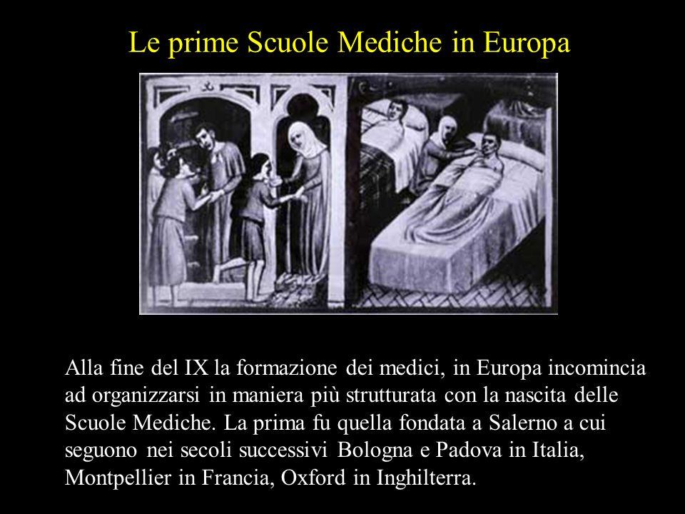 Le prime Scuole Mediche in Europa