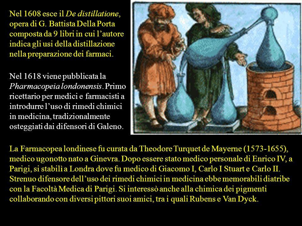 Nel 1608 esce il De distillatione, opera di G
